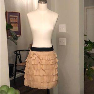 J. Crew collection silk petal skirt